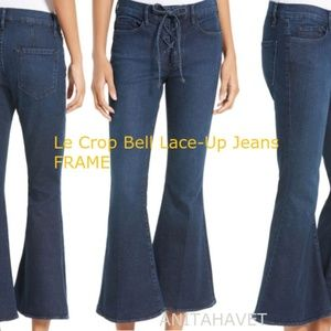 FRAME Le Bell Lace-Up Jeans